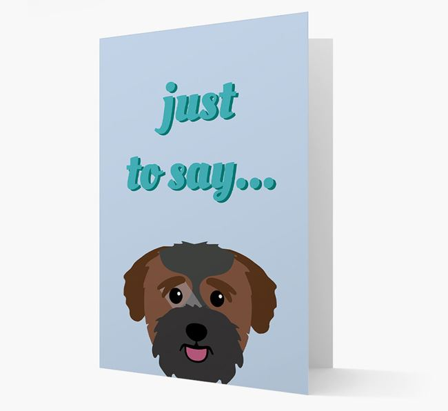 'Just to Say' - Personalized Bichon Yorkie Card
