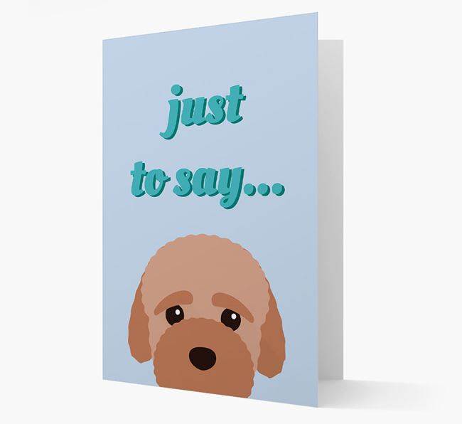 'Just to Say' - Personalized Bich-poo Card