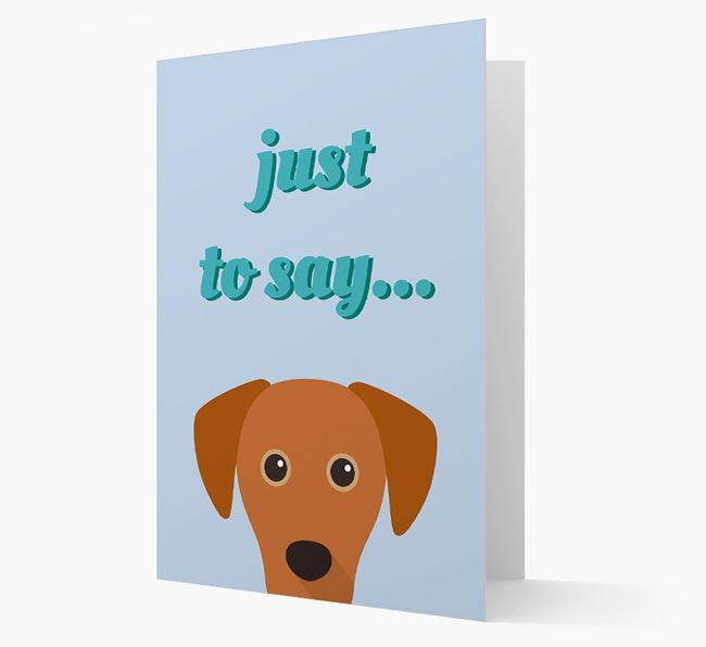 'Just to Say' - Personalized Blue Lacy Card