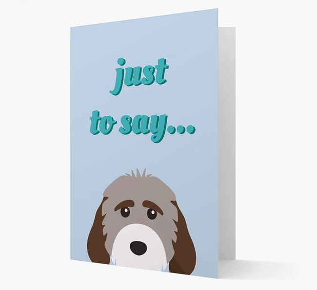 'Just to Say' - Personalised Cockapoo Card