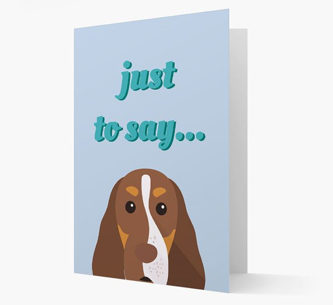 'Just to Say' - Personalized Cocker Spaniel Card