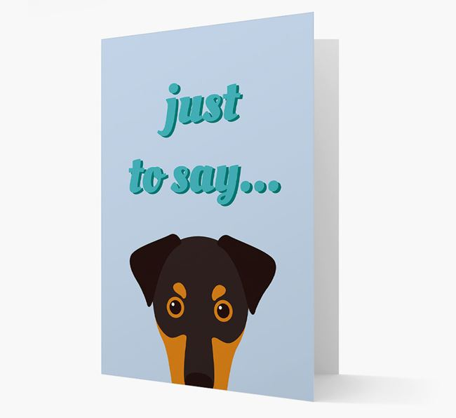'Just to Say' - Personalized Dobermann Card