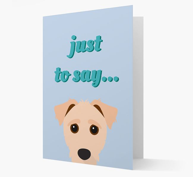 'Just to Say' - Personalized Jack-A-Poo Card