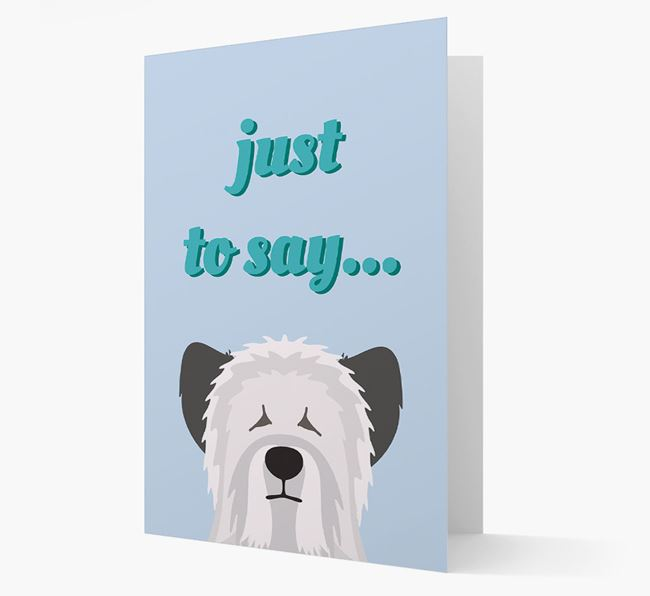 'Just to Say' - Personalized Skye Terrier Card