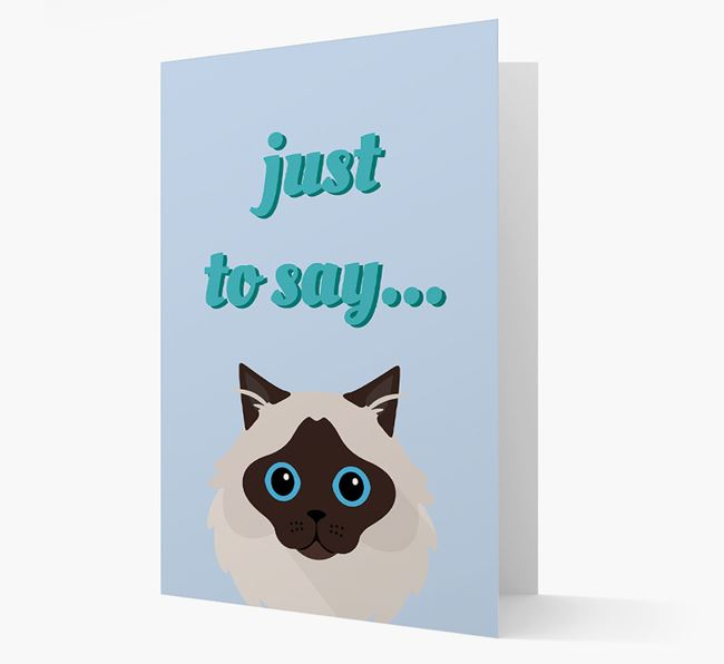 'Just to Say' - Personalized Cat Card