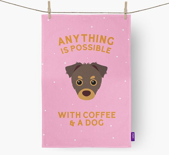 'Anything Is Possible With Coffee/Tea...' - Personalized Chipoo Dish Towel