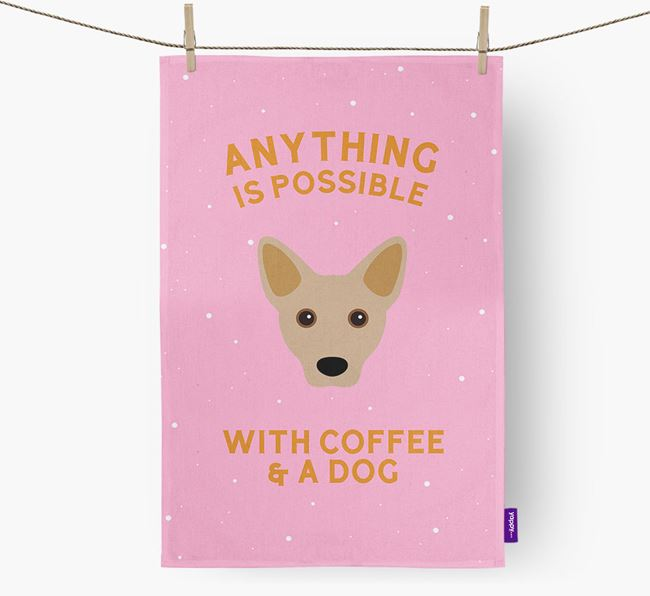 'Anything Is Possible With Coffee/Tea...' - Personalized Cojack Dish Towel