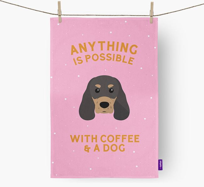 'Anything Is Possible With Coffee/Tea...' - Personalized Sprocker Dish Towel
