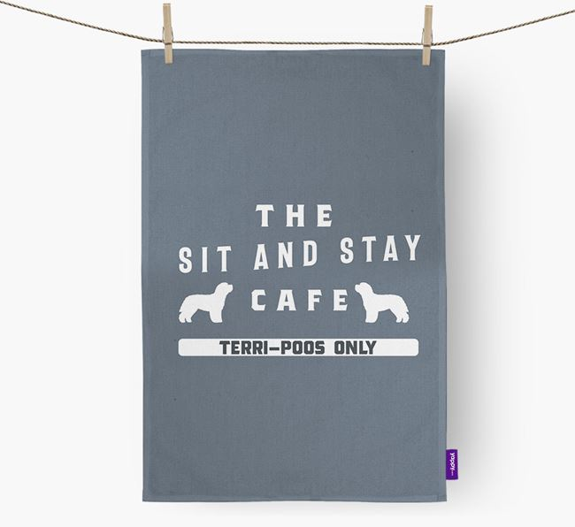 'The Sit And Stay Cafe'  - Personalized Terri-Poo Dish Towel