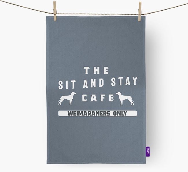 'The Sit And Stay Cafe'  - Personalized Dog Dish Towel
