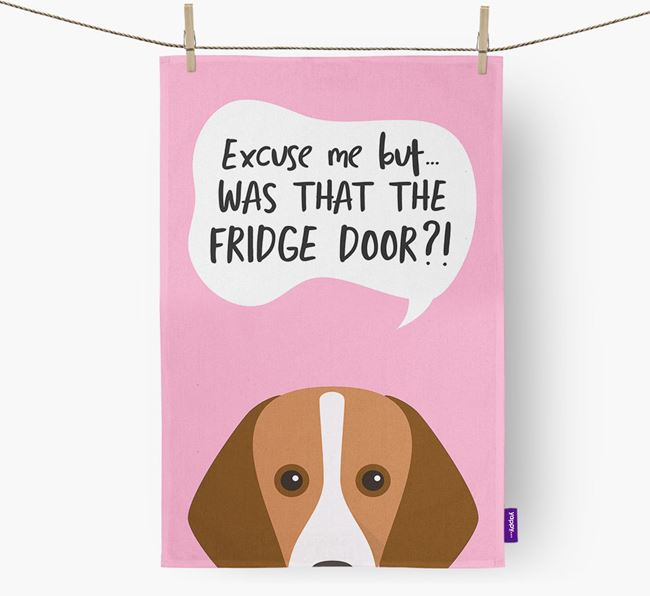 '...Was That The Fridge Door?!' - Personalized Harrier Dish Towel