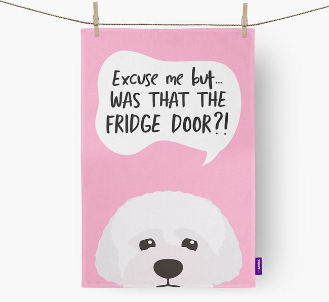 '...Was That The Fridge Door?!' - Personalized Lagotto Romagnolo Dish Towel