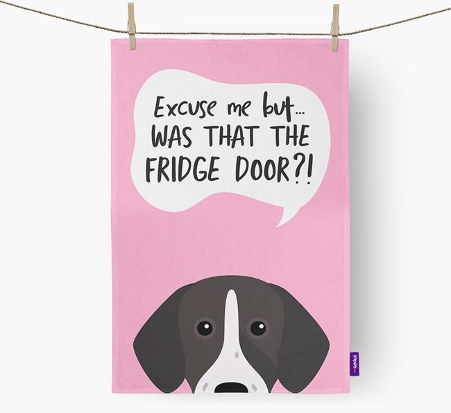 '...Was That The Fridge Door?!' - Personalized Pointer Dish Towel