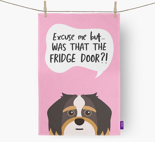 '...Was That The Fridge Door?!' - Personalized Shorkie Dish Towel