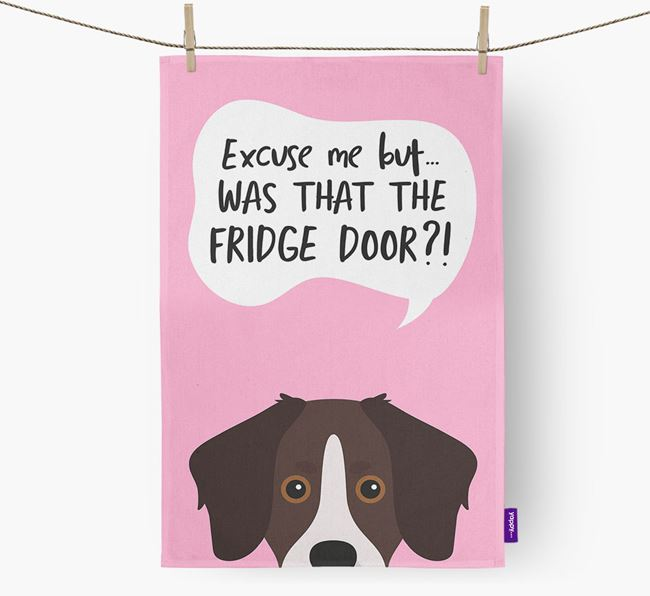 '...Was That The Fridge Door?!' - Personalized Stabyhoun Dish Towel