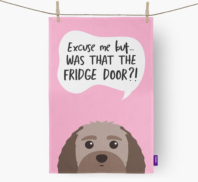 '...Was That The Fridge Door?!' - Personalized Terri-Poo Dish Towel