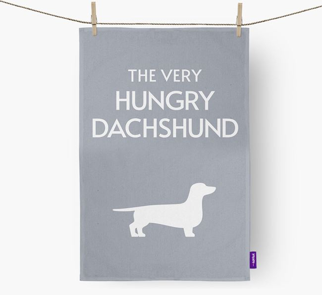 'The Very Hungry...' - Personalized Dog Dish Towel