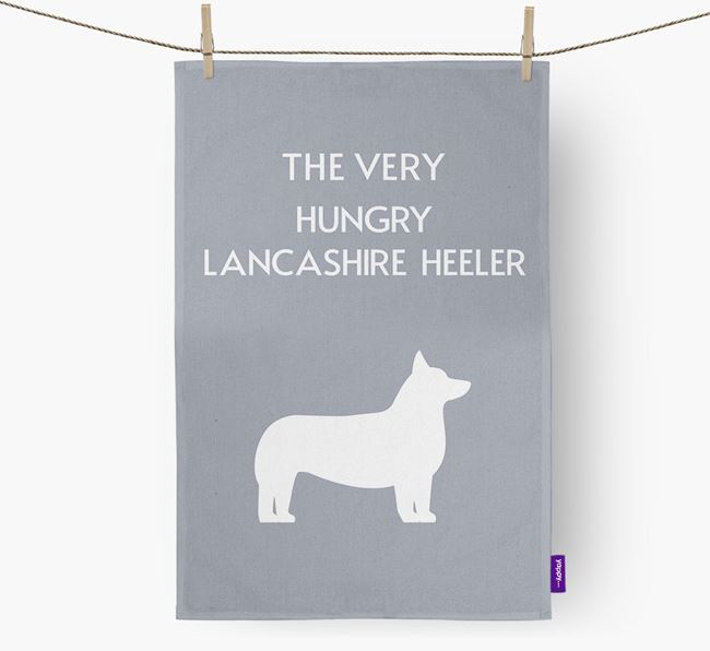 'The Very Hungry...' - Personalized Lancashire Heeler Dish Towel