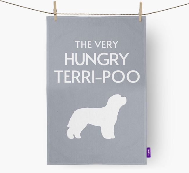 'The Very Hungry...' - Personalized Terri-Poo Dish Towel