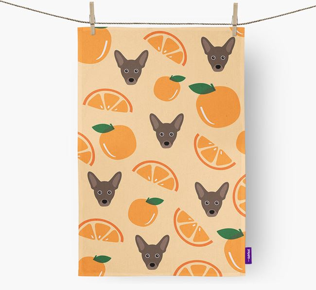 'Fruit Pattern' - Personalized French Pin Tea Towel