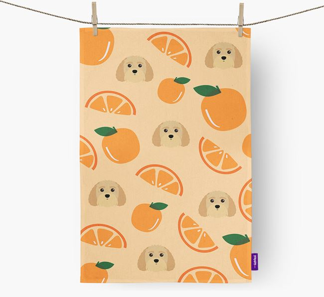 'Fruit Pattern' - Personalized Terri-Poo Tea Towel