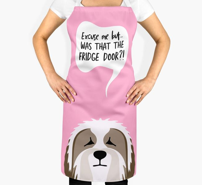 '...Was That The Fridge Door?!' - Personalized Bearded Collie Apron