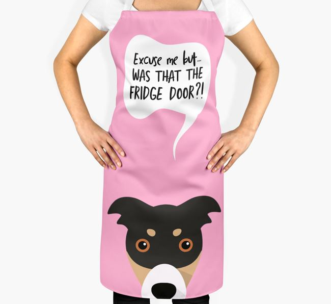 '...Was That The Fridge Door?!' - Personalized Border Collie Apron