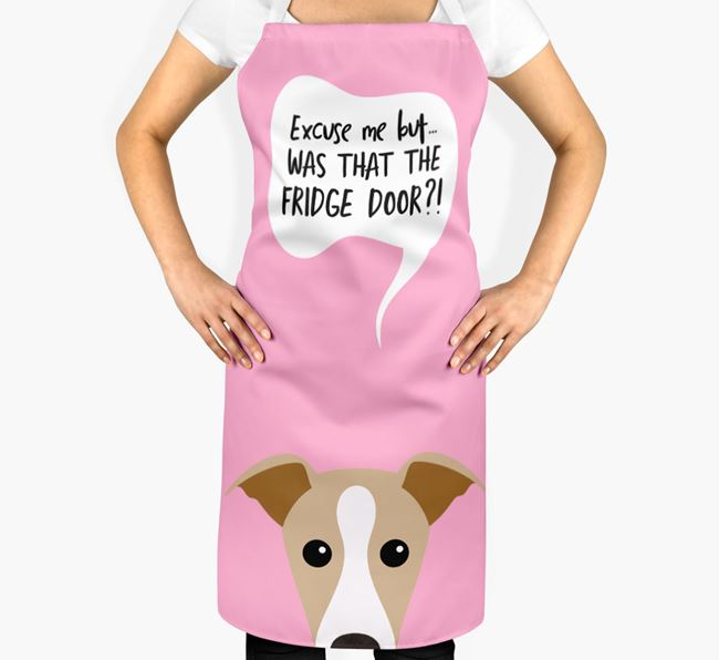 '...Was That The Fridge Door?!' - Personalized Dog Apron