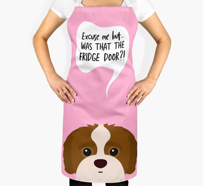 '...Was That The Fridge Door?!' - Personalized Jack-A-Poo Apron