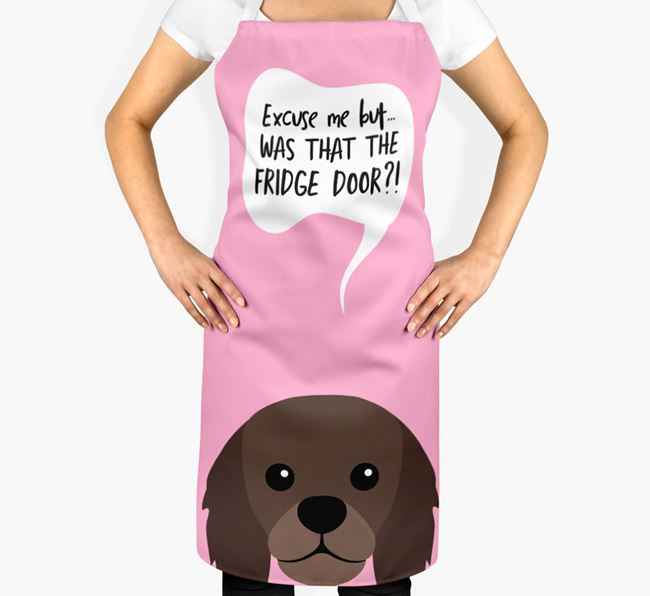 '...Was That The Fridge Door?!' - Personalized King Charles Spaniel Apron