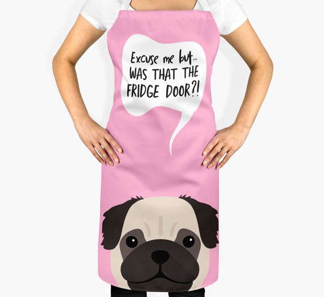 '...Was That The Fridge Door?!' - Personalized Pug Apron