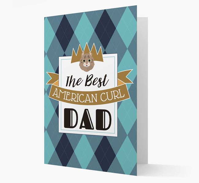 'Best Cat Dad' - Personalized Cat Card