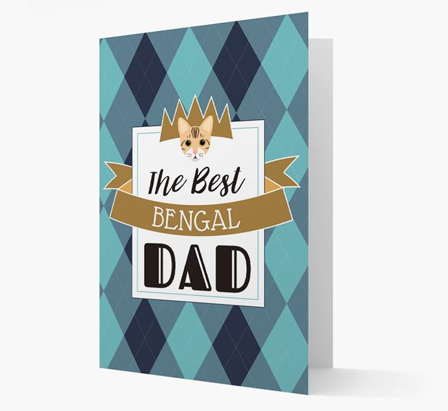 'Best Bengal Dad' - Personalized Bengal Card