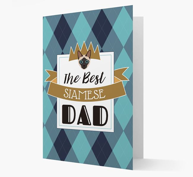 'Best Siamese Dad' - Personalized Siamese Card