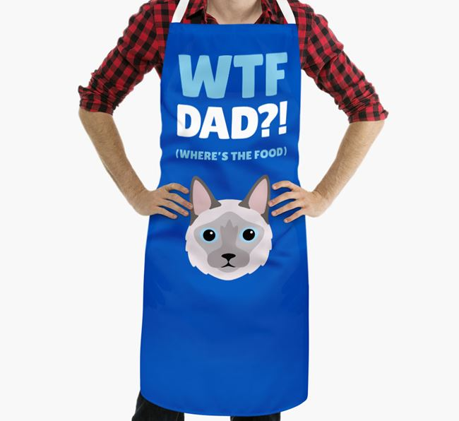 'Where's the Food Dad?!' - Personalized Balinese Apron