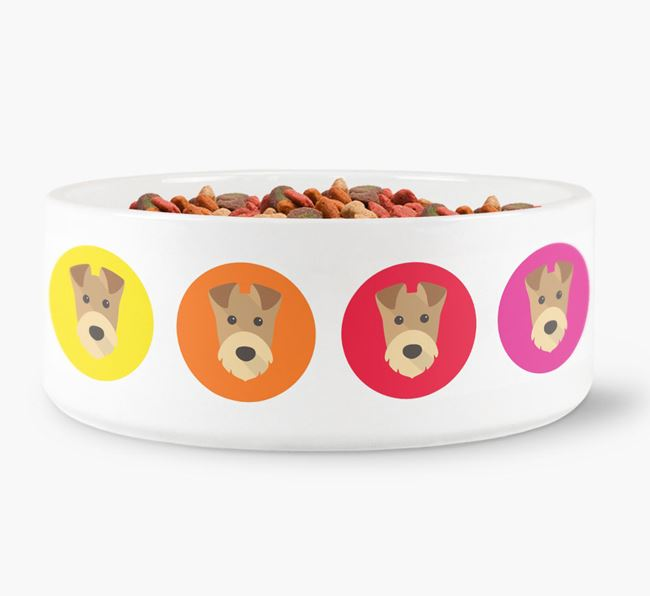 Airedale Terrier Yappicon Dog Bowl