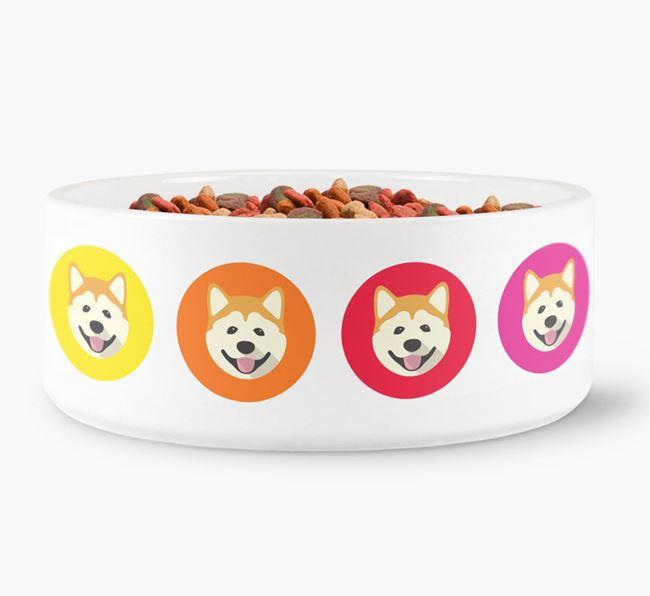 Akita Yappicon Dog Bowl
