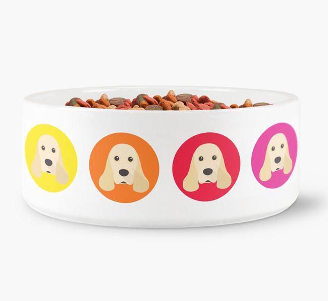 American Cocker Spaniel Yappicon Dog Bowl