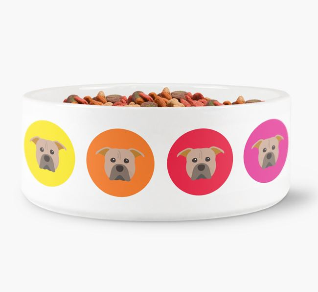 American Pit Bull Terrier Yappicon Dog Bowl