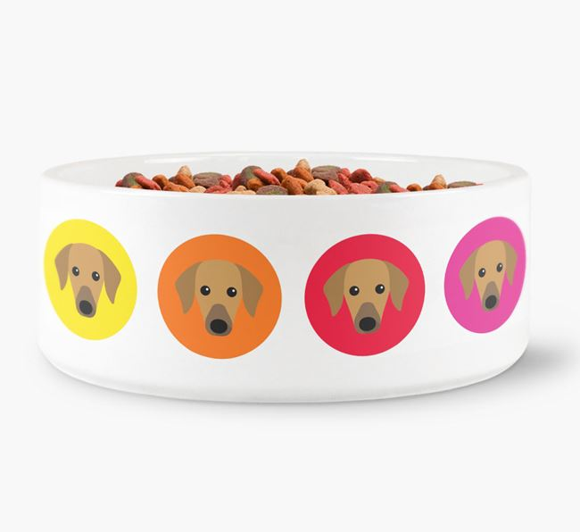 Azawakh Yappicon Dog Bowl