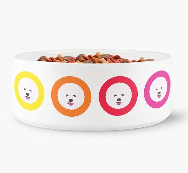 Bichon Frise Yappicon Dog Bowl