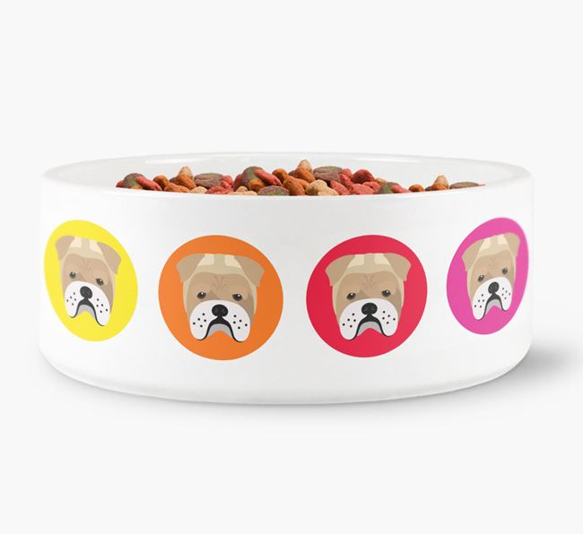 Bull Pei Yappicon Dog Bowl
