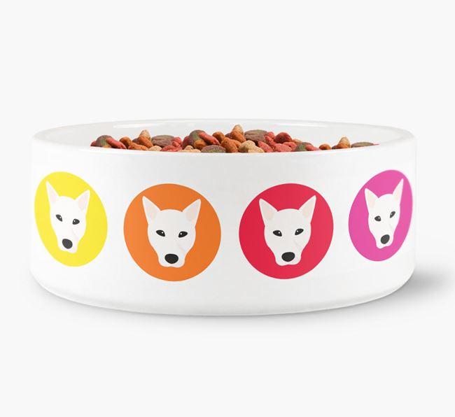 Canaan Dog Yappicon Dog Bowl