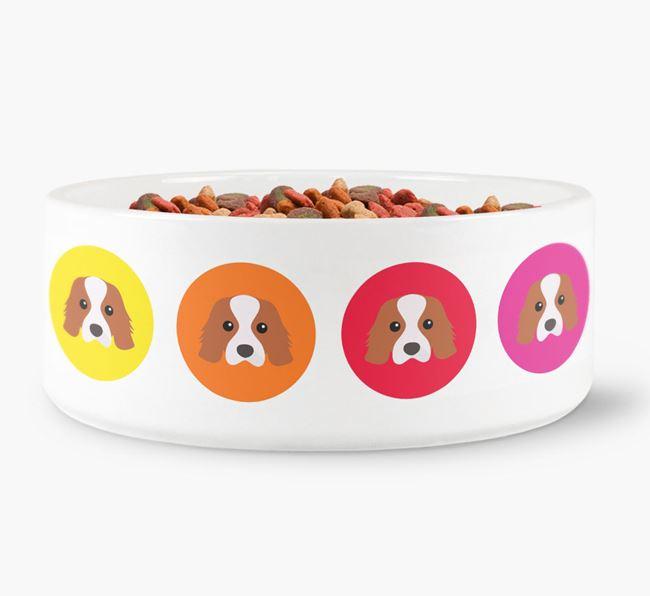 Cavalier King Charles Spaniel Yappicon Dog Bowl