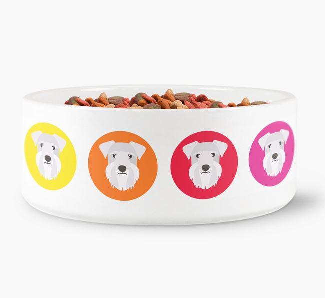 Cesky Terrier Yappicon Dog Bowl