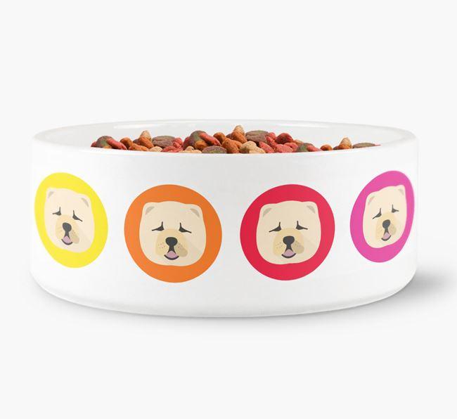 Chow Chow Yappicon Dog Bowl