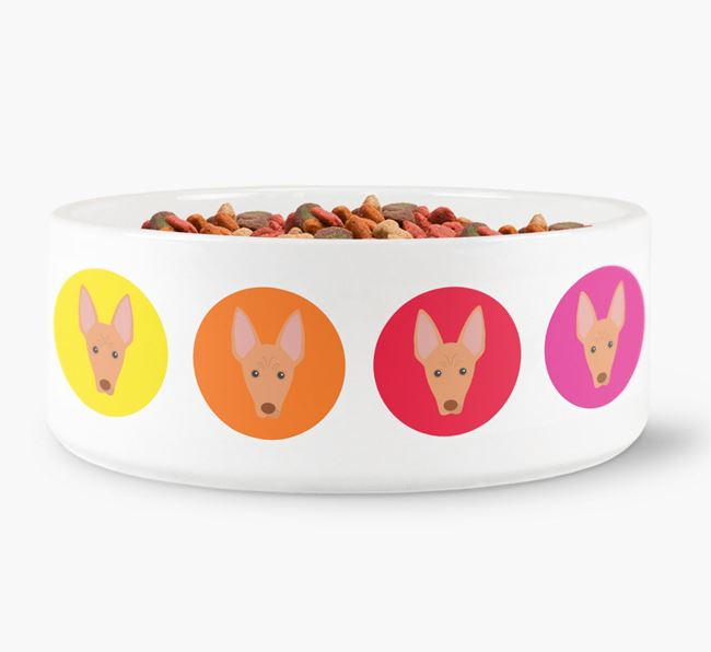 Cirneco Dell'Etna Yappicon Dog Bowl