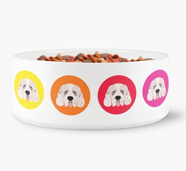 Clumber Spaniel Yappicon Dog Bowl