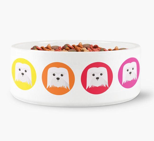 Coton De Tulear Yappicon Dog Bowl