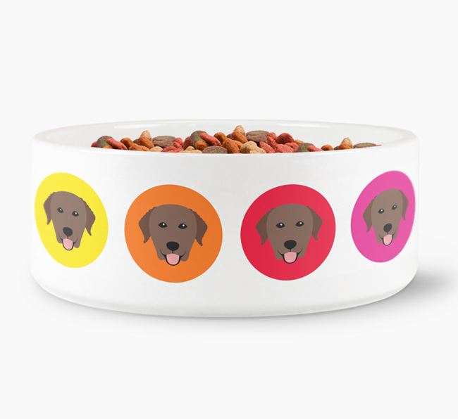 Curly Coated Retriever Yappicon Dog Bowl